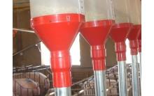 Adaptador reductor a tubo de caida Material para distribución y alimentación granjas de cerdos
