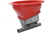 Unidad de carga doble pintada al polvo Material para distribución y alimentación granjas de cerdos