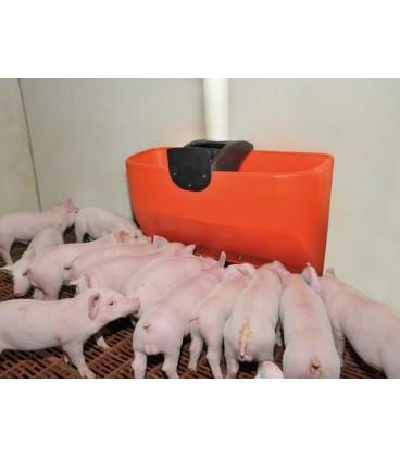 Tolva de 5 bocas de destete de cerdas Material para distribución y alimentación granjas de cerdos