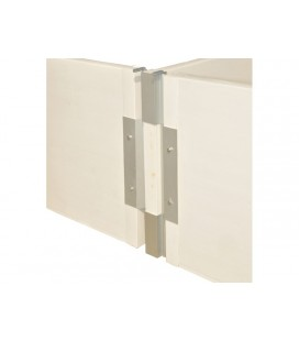 Herraje de aluminio a pared o frontal