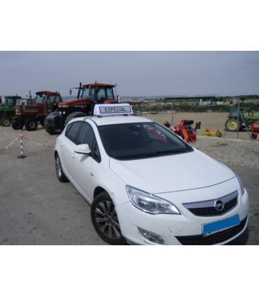 Cartel Avisador Vehiculo Especial V-21 con luz Placas y Señalizacion