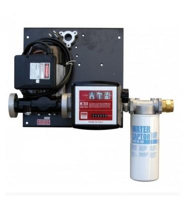 Conjunto Estacion Mural de 56 l/min a 220V con Filtro Decantador Bomba para trasiego de Gasoil y Aceite