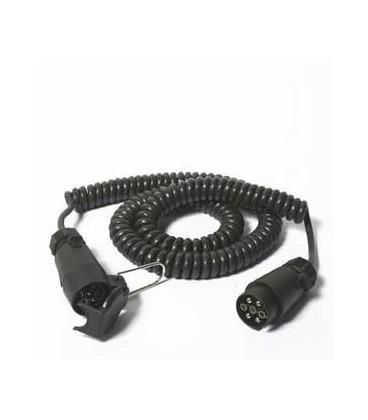 Alargador Espiral para Luces de Remolque 5 m Enchufes-Clavijas-Cables