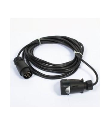 Alargador de Remolque para Luces 7.5 m Enchufes-Clavijas-Cables