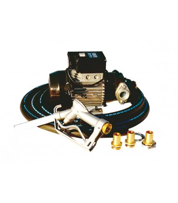 Kit Bomba de Trasiego de Gasoil 220 V Caudal 56 l/min Bomba para trasiego de Gasoil y Aceite