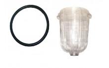 Visor Vaso de Seguridad de PCV para Valvula Sifon para Cisternas y Cubas de Purin Elementos seguridad Cuba