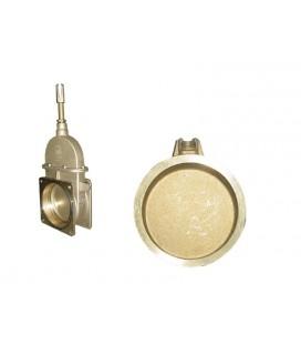 Disco Cierre Interior para Tajadera Manual de Bronce para Cubas de Purin