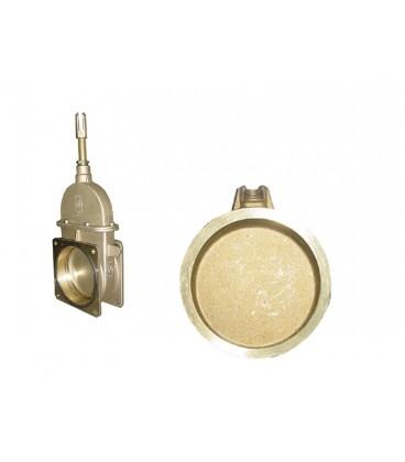 Disco Cierre Interior para Tajadera Manual de Bronce para Cubas de Purin Tajaderas
