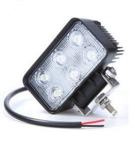 Foco LED de Trabajo Cuadrado 18 W