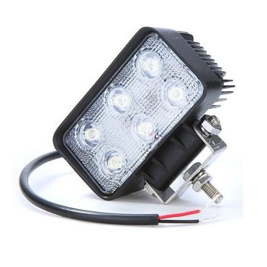 Foco LED de Trabajo Cuadrado 18 W Faros, Focos y Barras de Trabajo LED