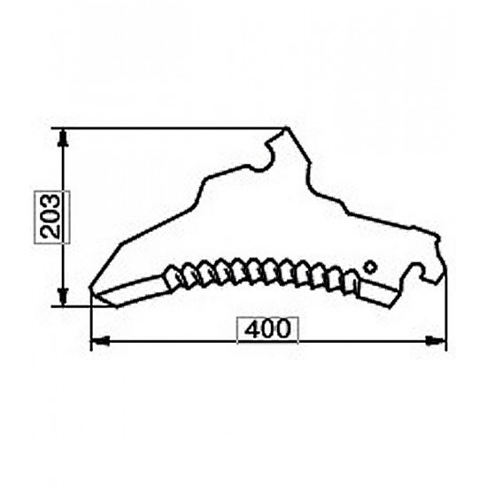 Cuchilla Adaptable para Carro Picador Autocargador Pottinger Cuchillas Autocargador