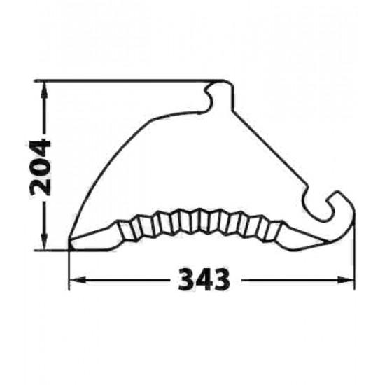 Cuchilla Adaptable de Empacadora y Rotoempacadora Claas Cuchillas Adaptables para Autocargadores, Empacadoras y Rotoempacadoras