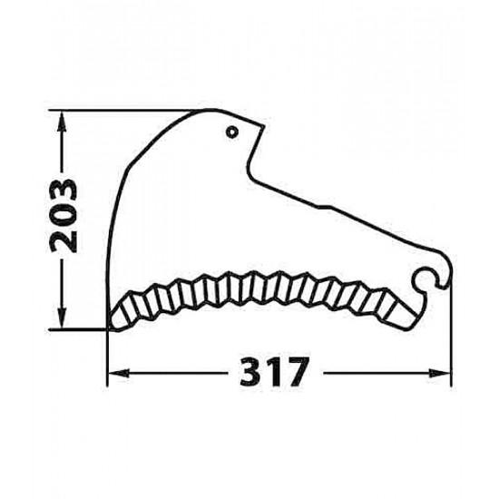 Cuchilla Adaptable para Empacadora-Rotoempacadora Kuhn Cuchillas Adaptables para Autocargadores, Empacadoras y Rotoempacadoras