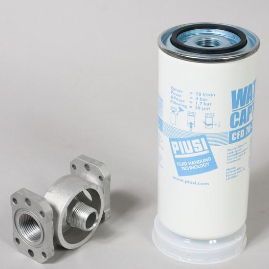Filtro decantador para el trasiego de gasoil 30 micrones completo (70 Litros minuto) Filtros-Prefiltros-Aspiracion de Gasoil