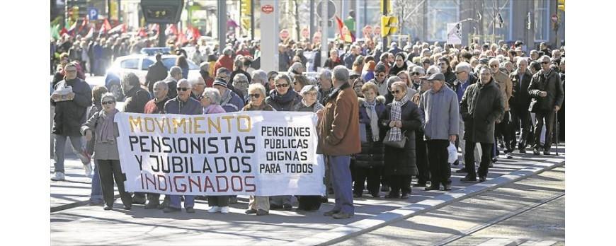 Los agricultores también se suman a la manifestación para pensiones de jubilación dignas