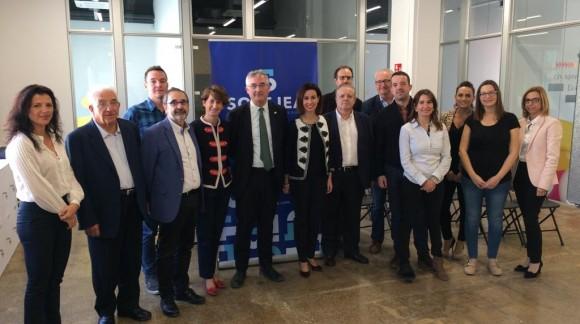 El consejero de Desarrollo Rural y Sostenibilidad del Gobierno de Aragón visita Ejea emprendedora