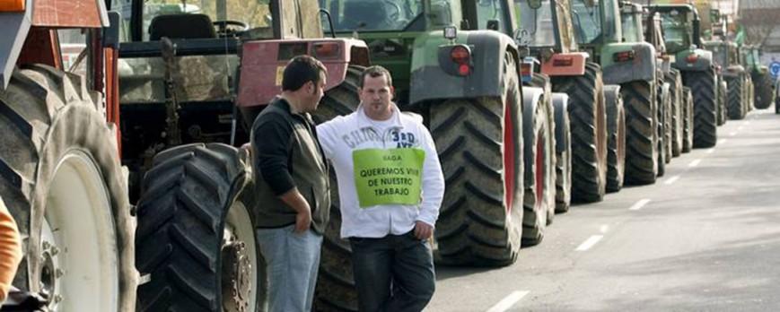 Tractorada en España y Zaragoza este día 5 de diciembre por la subida de los carburantes